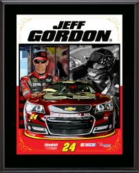 Jeff Gordon Sublimated 10.5'' x 13'' Stylized Composite Plaque - Mounted Memories
