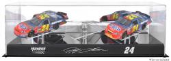 Jeff Gordon 1:24 Scale 3-Car Case - Mounted Memories