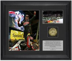 "2012 Ford 400 Race Winner Framed 6"" x 5"" Photo w/ Plate & Gold Coin - Limited Edition - Mounted Memories"