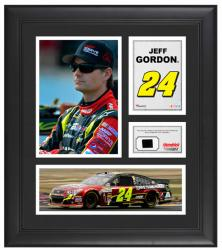 Jeff Gordon Framed 15'' x 17'' with Race-Used Tire - Mounted Memories