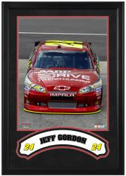 Jeff Gordon Framed Iconic 16'' x 20'' Photo with Banner - Mounted Memories