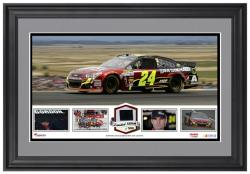 Jeff Gordon Framed Panoramic with Race-Used Tire - Limited Edition of 500 - - Mounted Memories
