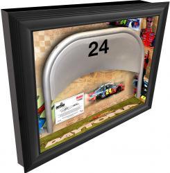 Jeff Gordon Daytona International Speedway Shadow Box with Metal 24 Seat