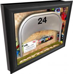 Jeff Gordon Daytona International Speedway Shadow Box with Metal 24 Seat