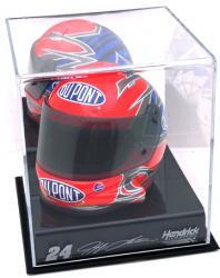 Jeff Gordon NASCAR Mini Helmet Display Case with Engraved Logos