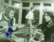 Gordon Lightfoot Autographed Signed Playing W/Bob Dylan Photo
