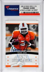Frank Gore Miami Hurricanes Autographed 2005 Upper Deck Rookie Debut #134 Rookie Card