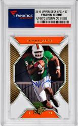 Frank Gore Miami Hurricanes Autographed 2010 Upper Deck Spx #57 Card