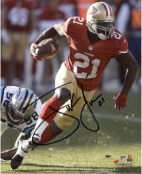 Frank Gore San Francisco 49ers Autographed 8'' x 10'' Red Jersey Photograph