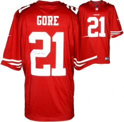 Frank Gore San Francisco 49ers Autographed Nike Limited Red Jersey