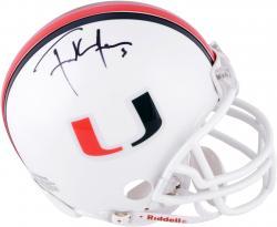 Frank Gore Miami Hurricanes Autographed Riddell Mini Helmet