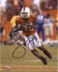 "Frank Gore Miami Hurricanes Autographed 8"" x 10"" Orange Jersey Photograph"