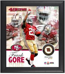 San Francisco 49ers Frank Gore Framed Collage with Football - Mounted Memories