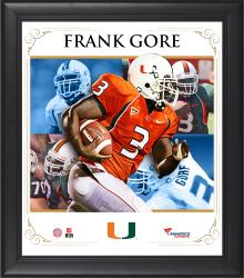 "Frank Gore Miami Hurricanes Framed 15"" x 17"" Core Composite Photograph"