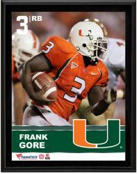 "Frank Gore Miami Hurricanes Sublimated 10.5"" x 13"" Plaque"