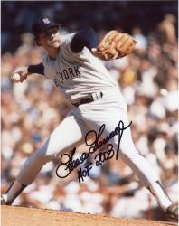 "Goose Gossage Autographed Yankees 8x10 Photo with ""HOF"" Inscription"