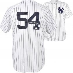 Goose Gossage New York Yankees Autographed White Replica Pinstripe Jersey - Mounted Memories