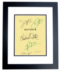 GOTHIKA Autographed Script Cover by Halle Berry, Robert Downey Jr, Charles S. Dutton, John Carroll Lynch, and Penelope Cruz BLACK CUSTOM FRAME