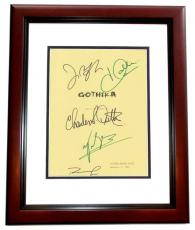 GOTHIKA Autographed Script Cover by Halle Berry, Robert Downey Jr, Charles S. Dutton, John Carroll Lynch, and Penelope Cruz MAHOGANY CUSTOM FRAME