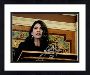Governor Kristi Noem Signed Autograph 8x10 Photo Sd Donald Trump Republican 2024