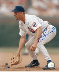 """Mark Grace Chicago Cubs Autographed 8"""" x 10"""" Fielding Photograph"""