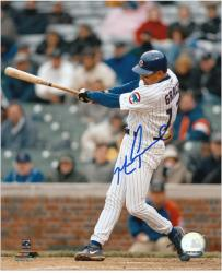 Mark Grace Chicago Cubs Autographed 8'' x 10'' Hitting Photograph - Mounted Memories