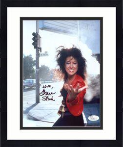 GRACE SLICK HAND SIGNED 8x10 COLOR PHOTO    GREAT POSE   JEFFERSON STARSHIP  JSA