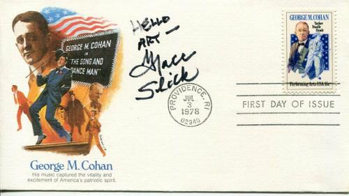 Grace Slick Jefferson Airplane Starship Singer Signed Autograph FDC JSA