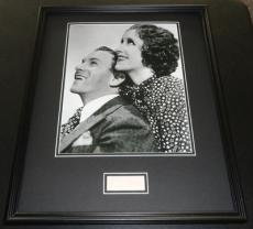Gracie Allen Signed Framed 16x20 Photo Poster Display w/ George Burns
