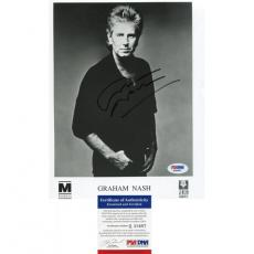 Graham Nash Autographed 8x10 Photo PSA