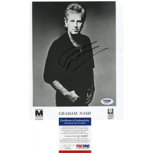 Graham Nash Autographed 8x10 Photo PSA