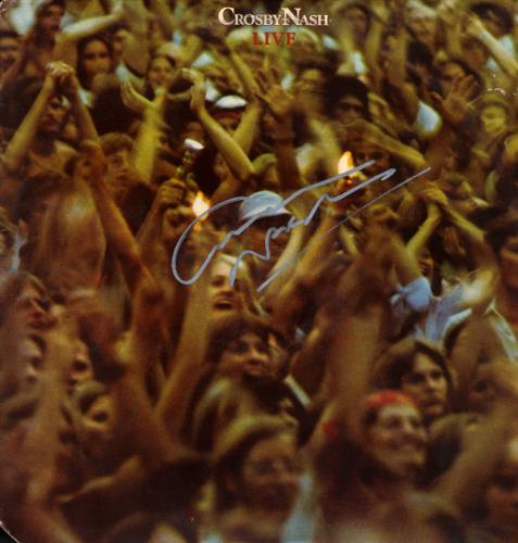 Graham Nash Autographed Signed Live Album Cover AFTAL UACC RD COA