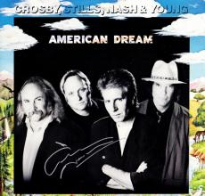 Graham Nash Signed - Autographed American Dream LP Record Album Cover - Crosby, Stills, Nash, and Young