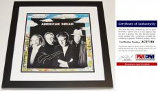 Graham Nash Signed - Autographed American Dream LP Record Album Cover with PSA/DNA Authenticity BLACK CUSTOM FRAME - Crosby, Stills, Nash, and Young