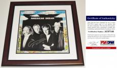 Graham Nash Signed - Autographed American Dream LP Record Album Cover with PSA/DNA Authenticity MAHOGANY CUSTOM FRAME - Crosby, Stills, Nash, and Young