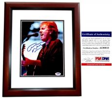 Graham Nash Signed - Autographed Crosby, Stills & Nash 8x10 inch Photo with PSA/DNA Authenticity MAHOGANY CUSTOM FRAME