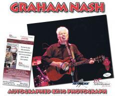 GRAHAM NASH Signed Crosby, Stills, Nash & Young 8x10 PHOTO - JSA #I84566