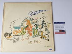 GRAHAM NASH signed Crosby Stills Nash Young SO FAR Vinyl Record 1974 PSA DNA