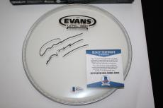 Graham Nash signed drumhead, Crosby,Still, Nash, The Hollies, Proof, Beckett BAS