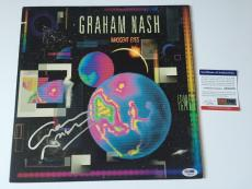 GRAHAM NASH signed INNOCENT EYES LP Vinyl Record Album 1986 Original PSA DNA