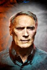 Gran Torino Clint Eastwood Portrait Signed 24x36 Canvas Poster Photo