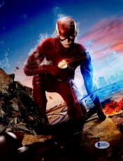 "Grant Gustin Autographed 8"" x 10"" The Flash Kneeling Photograph - Beckett COA"