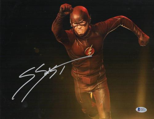 Grant Gustin Signed 11x14 Photo The Flash Authentic Autograph Bas Beckett Coa