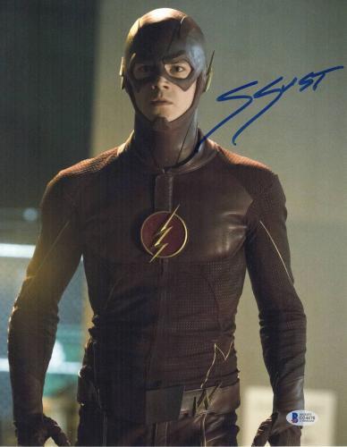 Grant Gustin Signed Auto The Flash 11x14 Photo Bas Beckett Coa 10