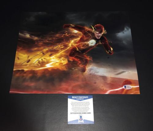 Grant Gustin Signed Auto The Flash 11x14 Photo Bas Beckett Coa 4