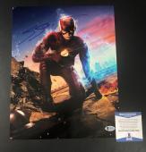 Grant Gustin Signed Auto The Flash 11x14 Photo Bas Beckett Coa 5