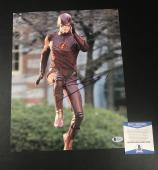 Grant Gustin Signed Auto The Flash 11x14 Photo Bas Beckett Coa 7