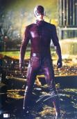 Grant Gustin Signed Autographed 12X18 Photo The Flash in Costume JSA T59747