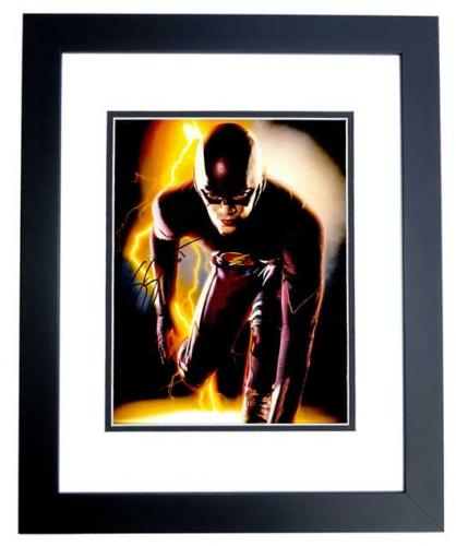 Grant Gustin Signed - Autographed The Flash 11x14 inch Photo as Barry Allen - BLACK CUSTOM FRAME - Guaranteed to pass PSA or JSA