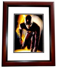 Grant Gustin Signed - Autographed The Flash 11x14 inch Photo as Barry Allen - MAHOGANY CUSTOM FRAME - Guaranteed to pass PSA or JSA